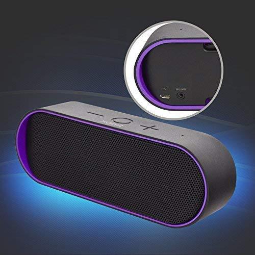Bluetooth Lautsprecher Box xqS10 mit Subwoofer und 6 Watt Leistung lila NEU Wow - All-In-One-Outlet-24 -