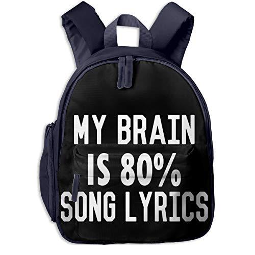MI Cerebro ES 80% Letras DE CANCIoN. Mochila de Viaje Bolso de Hombro Mochilas para portatil con Bolsillo