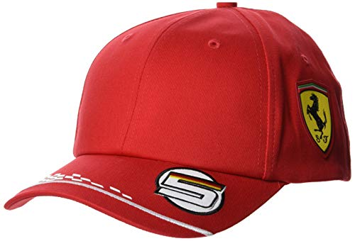 Ferrari Herren Vettel Driver Cap Baseballkappe, rot, One Size