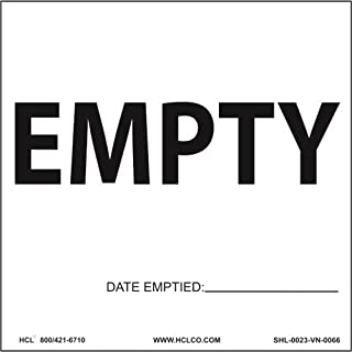 Empty Container Label (With Date) - 6