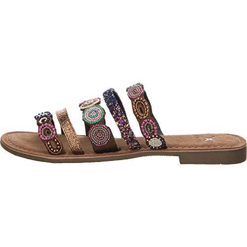 Kim Kay Damen Sandalette Pantolette braun Gr. 41