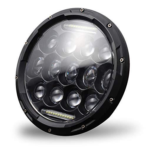 Haude Faros Delanteros LED de 7 Pulgadas Hi/Lo Beam DRL para JK TJ LJ 1997-2019 Rubicon