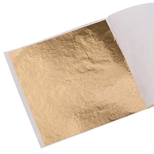KINNO Imitation Blattgold 100 Stück 8x8.5cm Kunsthandwerk Kunstprojekt Möbel Gemälde Wand DIY Champagner Gold