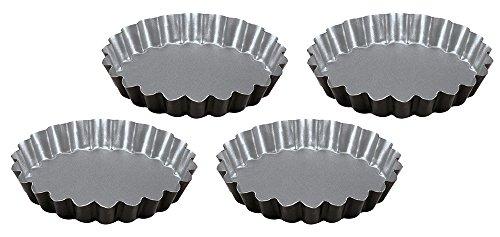Guardini SILVER ELEGANCE Lot 4 tartelettes 12 cm Acier antiadhésif Argent Diamètre 12 cm