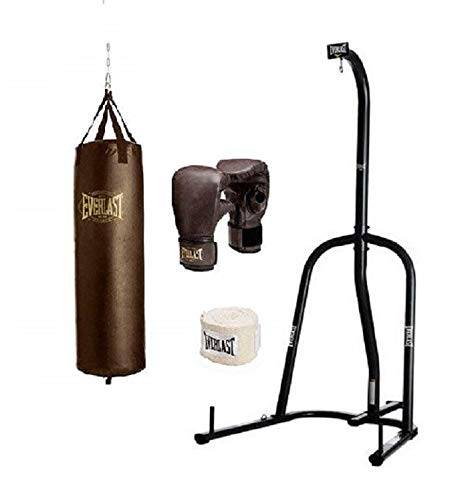 Everlast Single Station Heavy Bag Stand with Heavy Bag Kit (100)