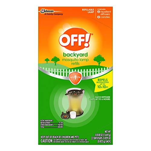 OFF! Backyard Mosquito Repellent Lamp Refill, Contains two Candle Diffuser Refills