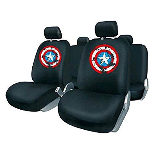 Capitán América CAPA101 Juego Fundas, Negro