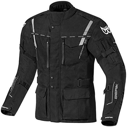 Berik Torino wasserdichte Motorrad Textiljacke 50 Schwarz
