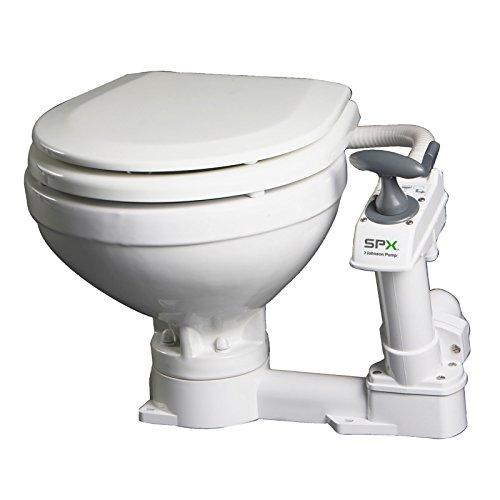 """Johnson Pumps - 80-47229-01 Aqua Toilet Compact Manual, 13-9/16"""" H x 17-11/16"""" W x 16-11/16"""" D"""