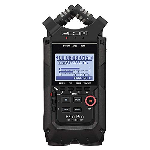 Zoom H4n Pro Black Registratore Audio portatile Digitale Multitraccia