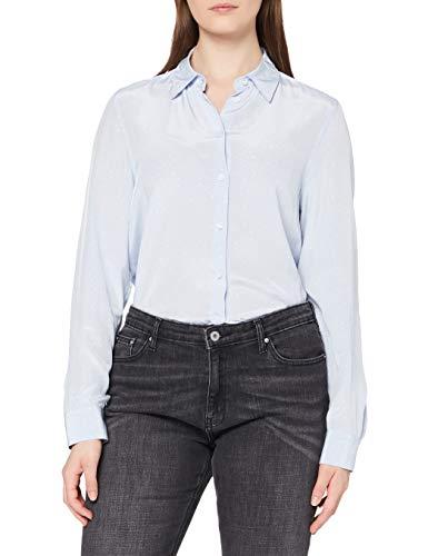 Seidensticker Damen Fashion 1/1 Bluse, Hellblau (12), 48