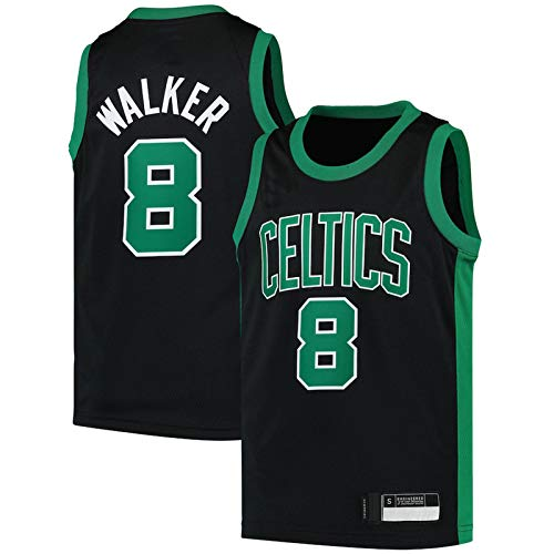 WEVB Camiseta de baloncesto personalizada NO.8 Negro, Juvenil 2020/21 Swingman Player Jersey de secado rápido, manga corta para niños