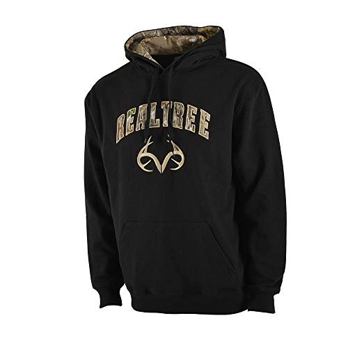 Colosseum Outdoors Men's Realtree Edge Whitetail Pullover Fleece Hoodie (Black, Large)