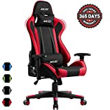 Muzii PC Gaming Chair for Pro,4-Color Choice Breathable SOFTKNIT Fabric Racing Style Ergonomic Adjustable Computer Chair for Office or Game with Headrest and Lumbar Pillow for Adults and Teens (RED)