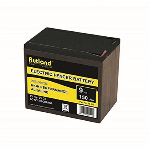 Rutland 9V 150Ah Alkaline Elektrisch Hek Accu - Large