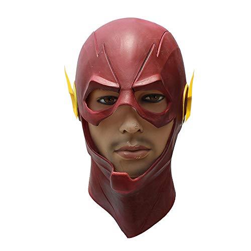 KTops Flash Mask Halloween Kopfbedeckung Lustige Maske Roter Latex-Integralhelm für Männer und Frauen Ghost Festival Masquerade Dress Up Headgear - Universalgröße