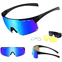 Ukoly Polarized Sports Sunglasses with 4 Interchangeable Lenses