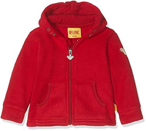 Steiff Baby-Jungen Sweatjacke Fleece Strickjacke, Rot (Jester Red 2120), 62 (Herstellergröße: 062)