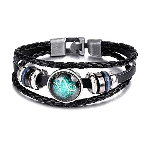 xiamenchangketongmaoyi Wrap Bangle Leather Bracelet Retro Bracelet Hand-Woven Bracelet Vintage Multilayer Bracelet Handmade Multilayer Bracelet Multilayer Wristband 4