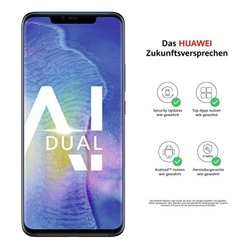 Huawei Mate20 Pro Dual-SIM Smartphone Bundle (6,39 Zoll, 128 GB interner Speicher, 6 GB RAM, Android 9.0, EMUI 9.0) twilight + USB Typ-C-Adapter [Exklusiv bei Amazon] - Deutsche Version