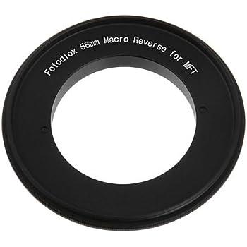 Fotodiox 58mm Filter Thread Macro Reverse Mount Adapter Camera Photo