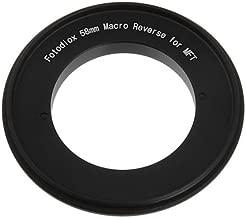 Fotodiox 58mm Filter Thread Macro Reverse Mount Adapter Ring for MFT Micro 4/3 Four Third Cameras, fits Olympus PEN E-PL1, E-PL1s, E-PL2, E-PL3, E-P2, E-P3, E-M, OM-D, E-M5, Panasonic Lumix DMC-G1, G2, G3, G10, GX1, GH1, GH2, GF1, GF2, GF3, GF5, Panasonic AG-AF100