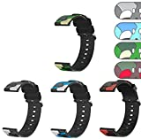 TenCloud 4-Pack Straps Compatible with Letsfit Fitness Tracker Smart Watch Bands, 19MM Camo Replacement Soft Flexible Silicone Lightweight Sport Band Strap Wristband for Letsfit ID205L Smart Watch