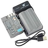 DSTE EN-EL3E - Batería y cargador para cámara Nikon D30, D50, D70, D70S, D90, D100, D200, D300, D300S, D700 (2 unidades)