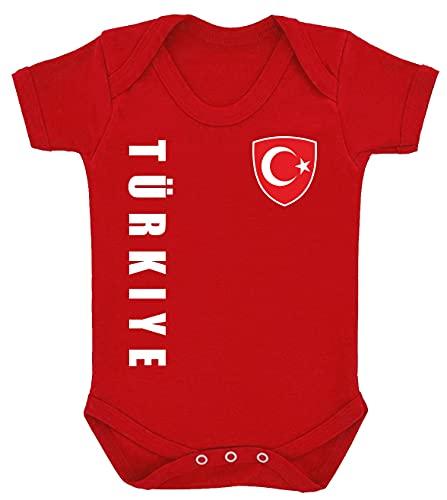 Aprom-Sports Türkei Baby BODY Strampler EM EM T-Shirt R Trikot Look No.10 (12-18 Monate)