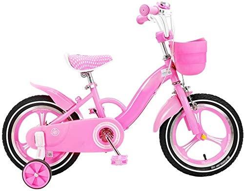 YYhkeby Bicicletas for niños for niños Bicycle12 / 16 Pulgadas de Niños y Niñas de Ciclismo, Adecuado for niños 2-8 Años de Edad Rosa (Tamaño: 16 Pulgadas) Jialele (Size : 12in)