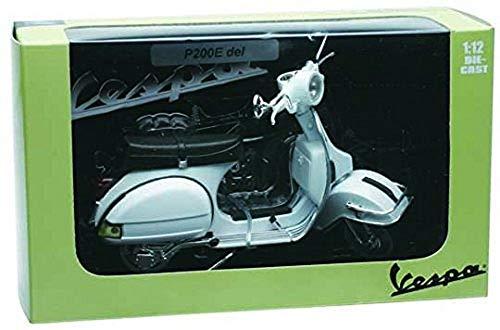 NewRay Motorbike 42216 - Vespa P200E 1978 Fedele Riproduzione, Scala 1:12, Die Cast, Bianco