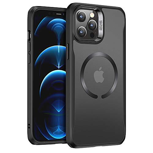 ESR Sidekick Hybrid Hülle Kompatibel mit iPhone 12 Pro Max 2020 mit HaloLock Magnetischem Kabellosem Laden Matt Schwarz