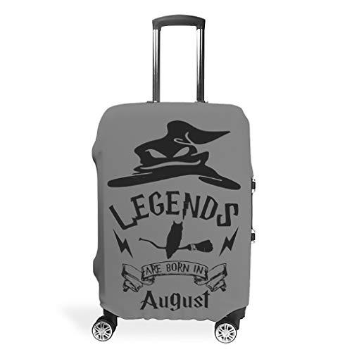 Legends are Born in August Fashion - Protector de equipaje antiarañazos, lavable de 40 a 32 cm para equipaje de transporte, blanco (Blanco) - Ainiteey55123