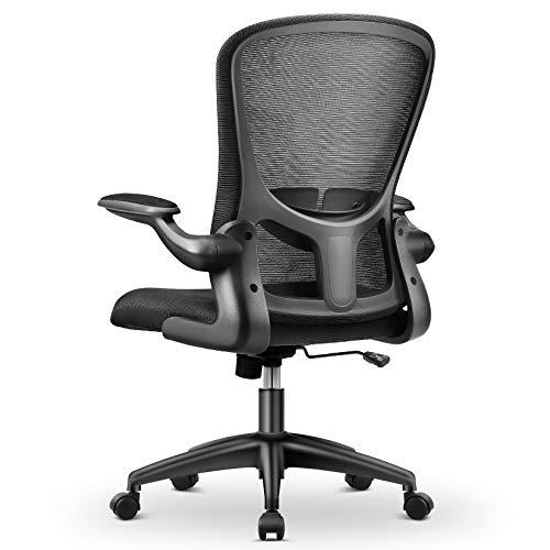MFAVOUR-Bürostühle, Ergonomischer Bürostuhl, Arbeitsstuhl mit Verstellbare Armlehnen und Lordosenstütze, Atmungsaktiver Mesh-Drehstuhl…