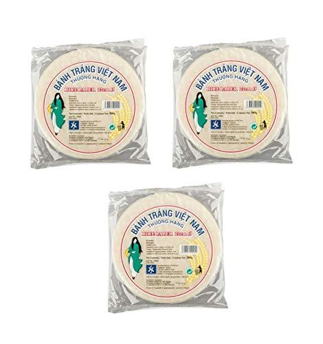Pamai Pai® 3 x 500g Reispapier zum Kochen 22cm Sommerrolle Frühlingsrolle Papier