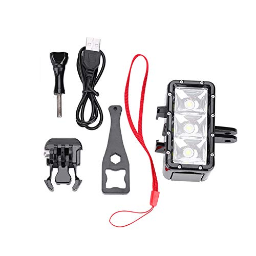 Nannigr Luz de cámara LED a Prueba de Agua, Luz de Video de cámara LED para SJCam