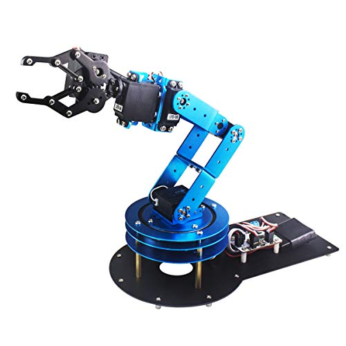 6DOF Robotic Arm Kit Programming Robot Arm with Handle PC Software and APP Control with Tutorial