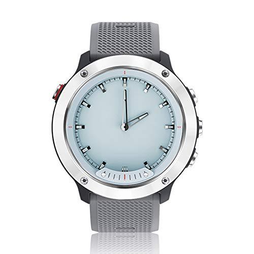 WENQAN wasserdichte Business Gentleman-Sportuhr, Smart-Fashion-Uhr, iOS, Outdoor-Sportarten, Bluetooth-Fitness-Tracker, analoger Herzfrequenz-Chronograph-Darkgray