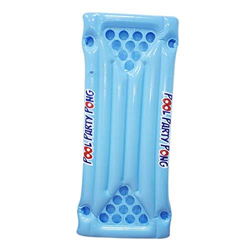 F Fityle Sommer Pool Luftmatratze, Aufblasbare Ping Pong Tisch aus hochwertiges PVC-Kunststoff, mit 10 Getränkehaltern auf jeder Seite