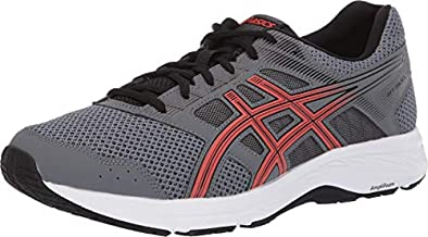 ASICS Men's Gel-Contend 5 Running Shoes, 10.5, Steel Grey/RED Snapper