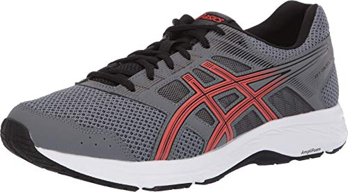 ASICS Men's Gel-Contend 5 Running Shoes, 10.5M, Steel Grey/RED Snapper