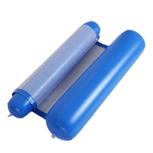 LIUGAOHUA Hammocks & Loungers Outdoor Faltwasser Hängematte Liege aufblasbare schwimmende Reihe Luftmatratze aufblasbar 130 * 73CM/ Bleu Saphir