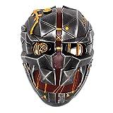 Mulrcks Resin Corvo Cosplay Mask, Dishonored Mask Corvo Attano Halloween Masquerade Character Costume Mask Props (Silver)