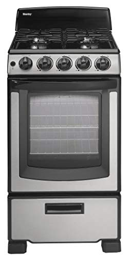 Danby Designer 20-in. Gas Range with Sealed Burners  Electric Ignition and 2.3-Cu. Ft. Oven Capacity in Stainless Steel/Black