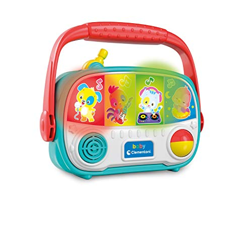 Clementoni - Baby Radio Juguete de Primera Infancia, Juego Musical electrónico, Centro de Actividades, niños 10 Meses +, Multicolor, 17439