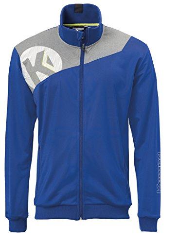 Kempa Kinder CORE 2.0 Poly Jacke Oberbekleidung, royal/Dark grau Melange, 164