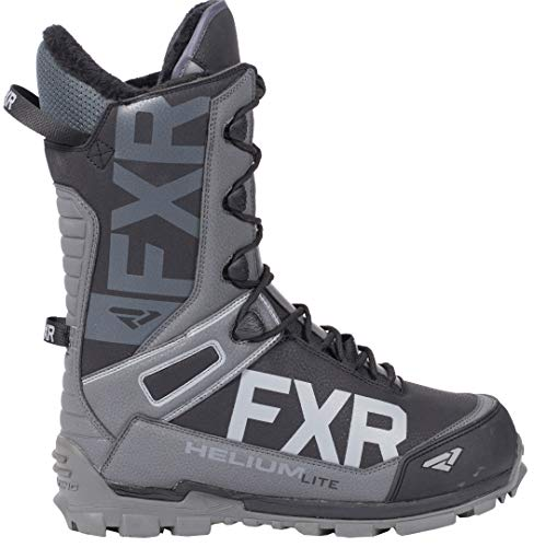 FXR Helium Lite Speed Boot (Black/Charcoal, Mens 10 / Womens 12)