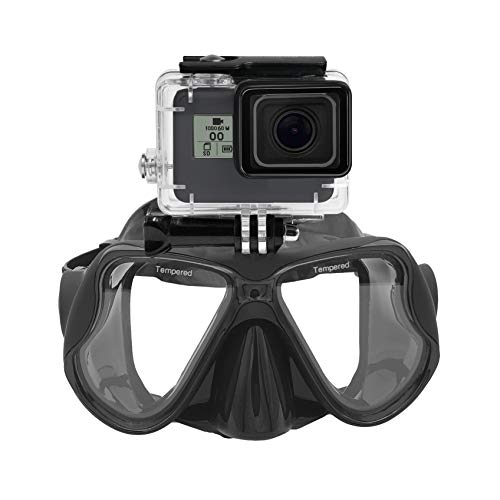 Máscara de Buceo submarina Gafas de Snorkel Compatible with GoPro Hero (2018) GoPro Hero 7 6 5 4 3, Hero Black, Session