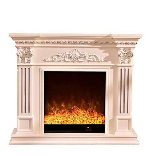 NOEzyf LED Flamme Dekoration Mantel Heizung Elektro-Kamin Kern Geschnitzte Dekoration Schrank 1500W 3D Realistic Flammeneffekt Kamin Heizung,Darkbrown,1200 * 330 * 1020MM