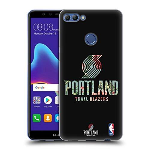 Officiële NBA Bloemen 2019/20 Portland Trail Blazers Soft Gel Case Compatibel voor Huawei Y9 2018 / Enjoy 8 Plus